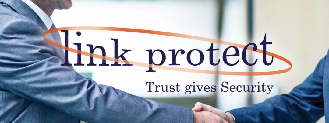 Link protect case study - business men shaking hands